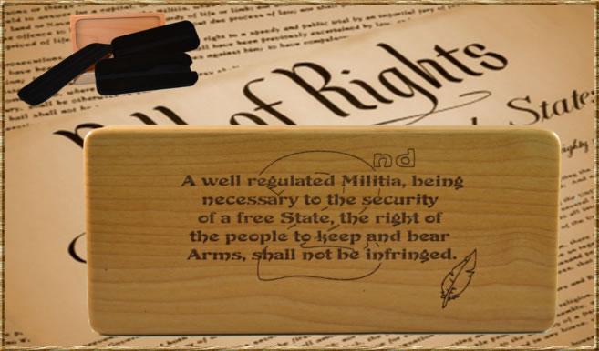 2nd Amendment Engraved Box w/ Inserts