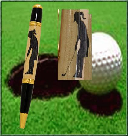 Female Golfer Inlay