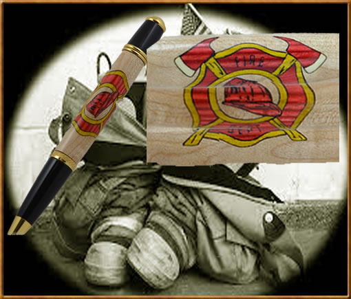 Fire Department Inlay Blank
