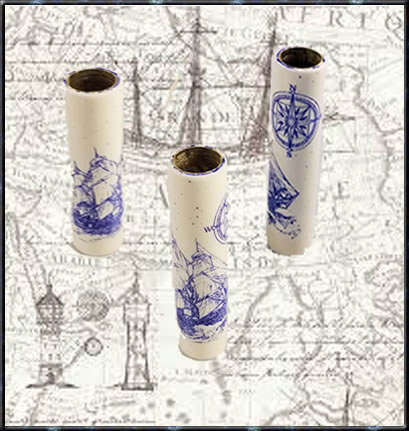 Laser Scrimshaw Nautical Blank - Blank Only (Pen Kit NOT Included)