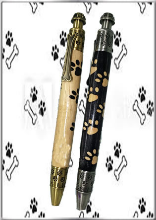 Extended Length Dog Paw Inlay Blank