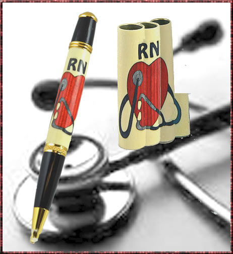 Heart & Stethoscope Inlay Blank