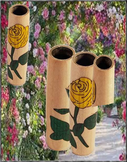 Single Rose Stem Inlay - Multiple Colors