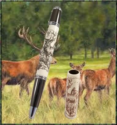 Laser Scrimshaw Deer Blank & Monet Pen Kit