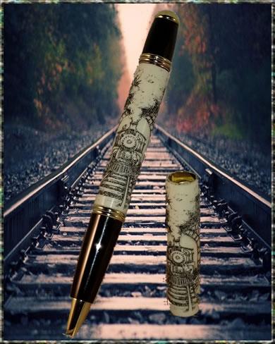 Laser Scrimshaw Train Blank & Monet Pen Kit