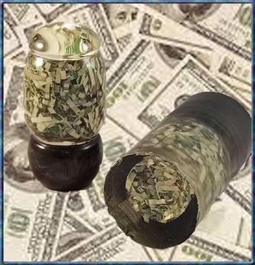 US Money Double Cast Bottle Stopper Blank